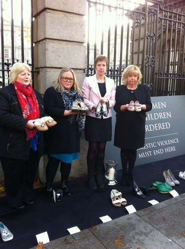 Sen. Marie Moloney, Ciara Conway T.D, myself and Sen. Mary Moran - violence against women vigil