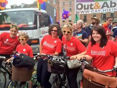 Dublin Pride 2015 - Labour on bikes