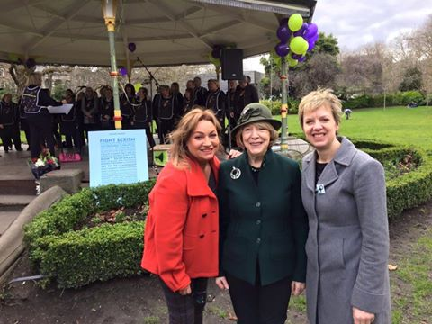 With Norah Casey and Sabina Higgins at the Soapbox